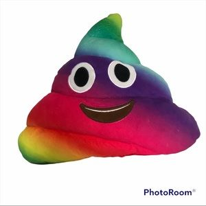 Rainbow Poop Pillow Excellent Pre-Owned Condition Mult-clout Kids Pillow